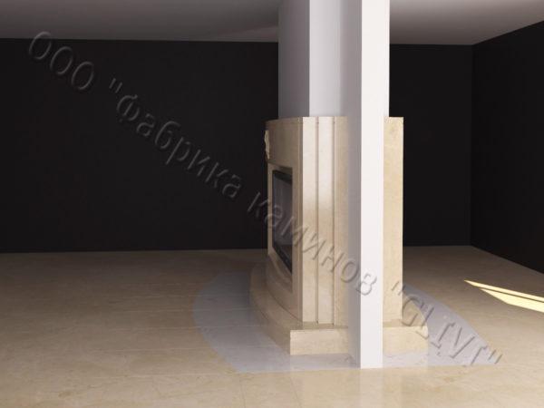 Двухсторонний (туннельный, стеклянный) камин Мэри, каталог каминов, изображение, фото 2
