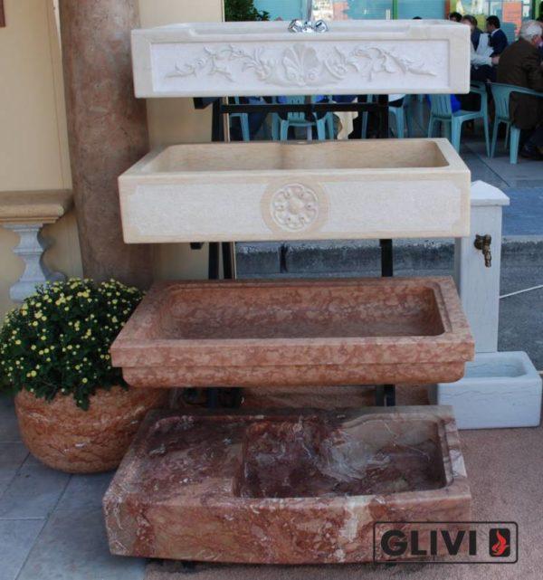 Мраморная раковина (умывальник) Метида, каталог раковин из камня, изображение, фото 3