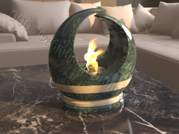 Мраморная облицовка (каминный портал) для камина на биотопливе Мики, каталог (интернет-магазин) каминов из мрамора, изображение, фото 4