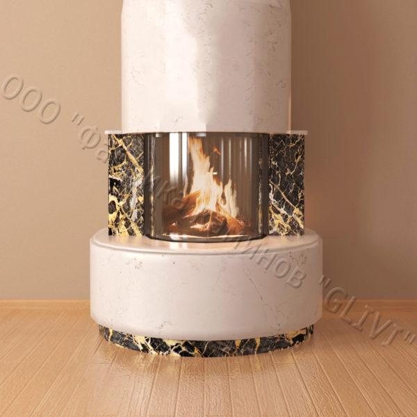 Мраморный каминный портал (облицовка) Милау, каталог (интернет-магазин) каминов из мрамора, изображение, фото 2