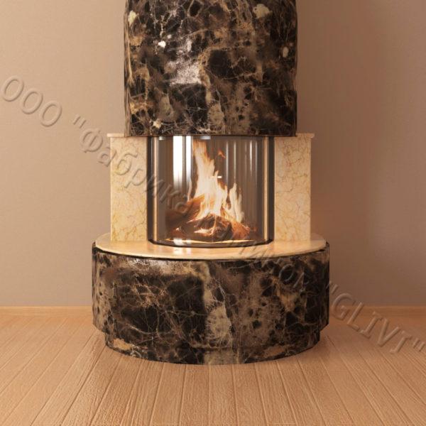 Мраморный каминный портал (облицовка) Милау, каталог (интернет-магазин) каминов из мрамора, изображение, фото 3