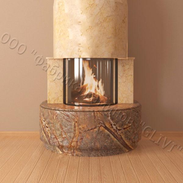 Мраморный каминный портал (облицовка) Милау, каталог (интернет-магазин) каминов из мрамора, изображение, фото 4