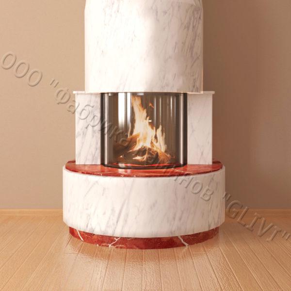 Мраморный каминный портал (облицовка) Милау, каталог (интернет-магазин) каминов из мрамора, изображение, фото 5