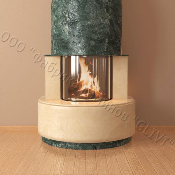 Мраморный каминный портал (облицовка) Милау, каталог (интернет-магазин) каминов из мрамора, изображение, фото 6