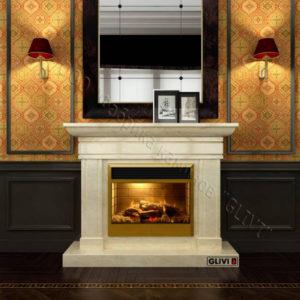 Мраморный каминный портал (облицовка) Миллениум, каталог (интернет-магазин) каминов из мрамора, изображение, фото 1