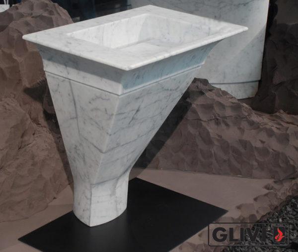 Мраморная раковина (умывальник) Мнема, каталог раковин из камня, изображение, фото 1