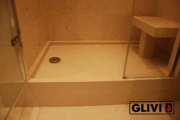 Поддон для душа Монтбреция мраморный, каталог душевых поддонов из камня, изображение, фото 2