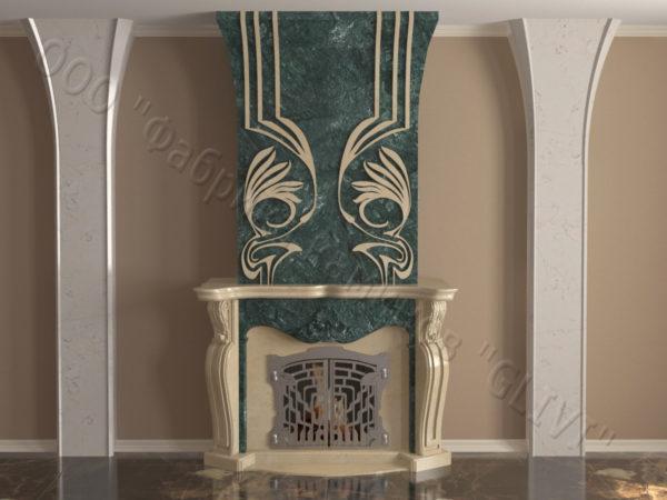Мраморный камин с открытой топкой Моравия, каталог (интернет-магазин) каминов из мрамора, изображение, фото 11