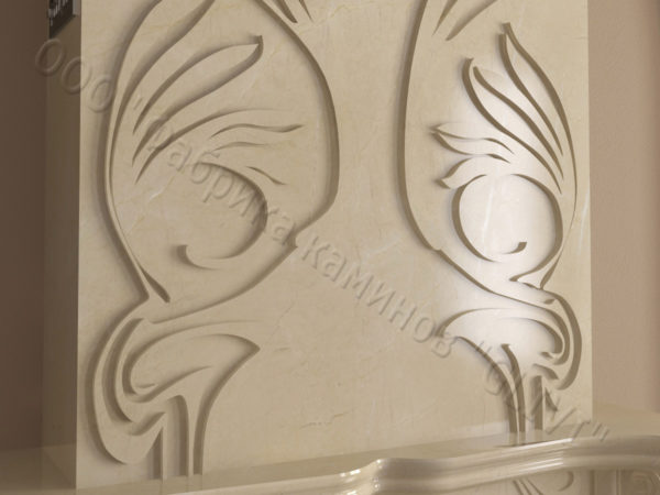 Мраморный камин с открытой топкой Моравия, каталог (интернет-магазин) каминов из мрамора, изображение, фото 7
