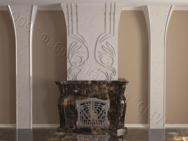 Мраморный камин с открытой топкой Моравия, каталог (интернет-магазин) каминов из мрамора, изображение, фото 9