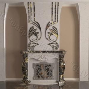 Мраморный камин с открытой топкой Моравия, каталог (интернет-магазин) каминов из мрамора, изображение, фото 10