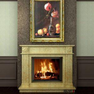 Мраморный каминный портал (облицовка) Натали, каталог (интернет-магазин) каминов из мрамора, изображение, фото 1