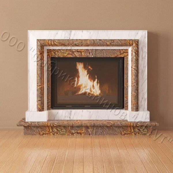 Мраморный каминный портал (облицовка) Неаполь, каталог (интернет-магазин) каминов из мрамора, изображение, фото 4