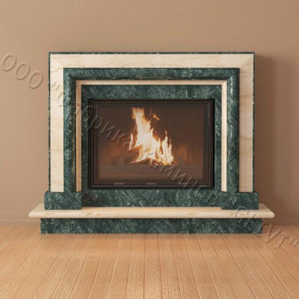 Мраморный каминный портал (облицовка) Неаполь, каталог (интернет-магазин) каминов из мрамора, изображение, фото 6