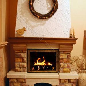 Мраморный каминный портал (облицовка) Несвиж, каталог (интернет-магазин) каминов из мрамора, изображение, фото 1