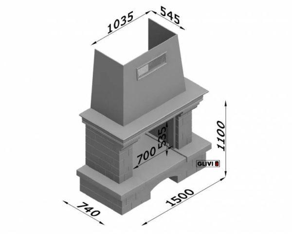 Мраморный каминный портал (облицовка) Несвиж, каталог (интернет-магазин) каминов из мрамора, изображение, фото 2