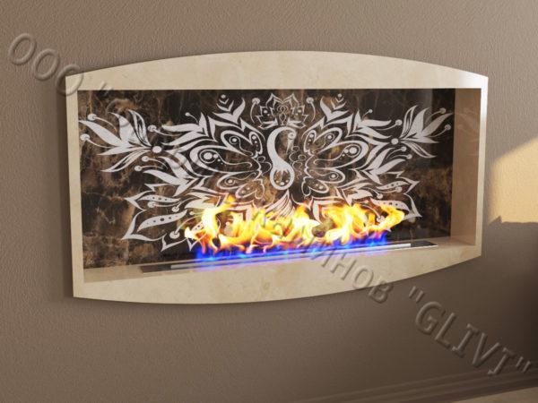 Напольный каминный портал (облицовка) для биокамина Огния, каталог (интернет-магазин) каминов, изображение, фото 1
