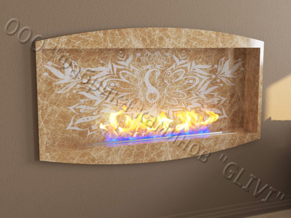 Напольный каминный портал (облицовка) для биокамина Огния, каталог (интернет-магазин) каминов, изображение, фото 3