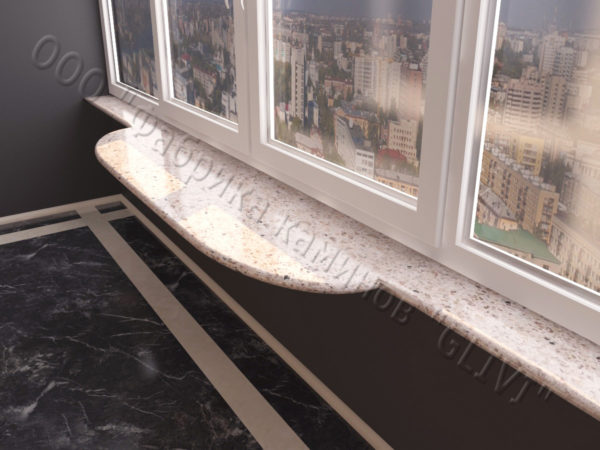 Барная стойка для балкона из мрамора Олда, изображение, фото 1
