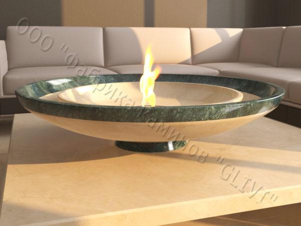 Мраморная облицовка (каминный портал) для камина на биотопливе Олимпия, каталог (интернет-магазин) каминов из мрамора, изображение, фото 5