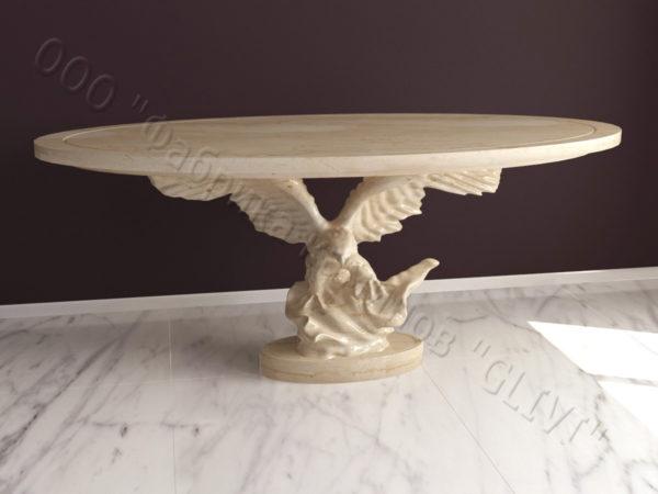 Стол из натурального камня (мрамора) Орло, интернет-магазин столов, изображение, фото 1