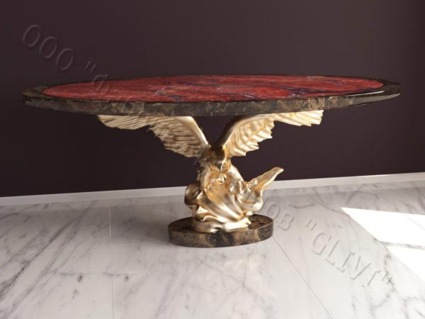 Стол из натурального камня (мрамора) Орло, интернет-магазин столов, изображение, фото 5