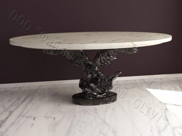 Стол из натурального камня (мрамора) Орло, интернет-магазин столов, изображение, фото 7