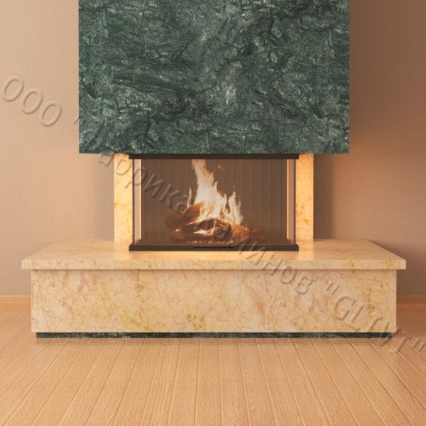 Фронтальный (прямой) камин Осень