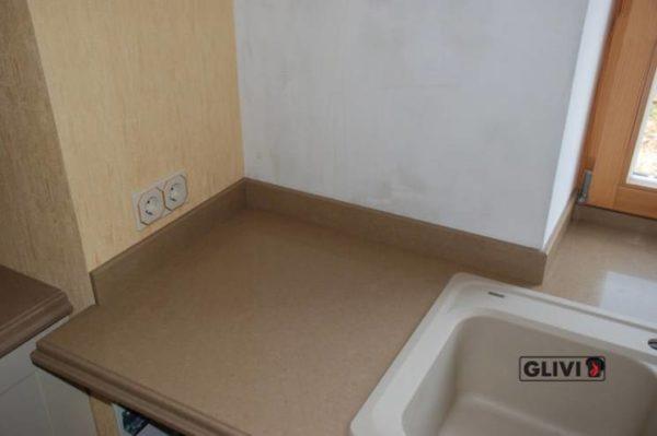 Столешница из искусственного (кварцевого) камня Пабло, изготовить на заказ, изображение, фото 1