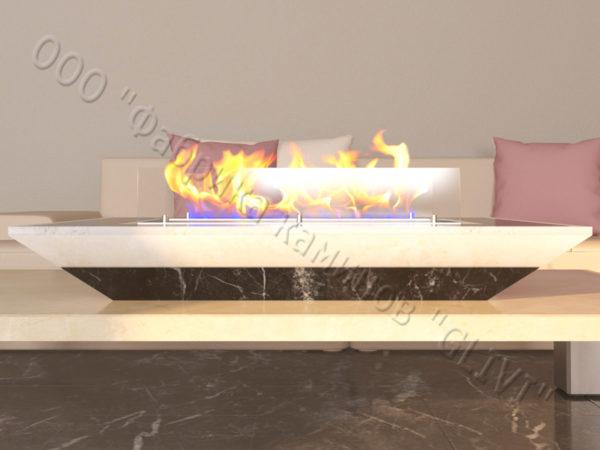 Мраморная облицовка (каминный портал) для камина на биотопливе Палис, каталог (интернет-магазин) каминов из мрамора, изображение, фото 2