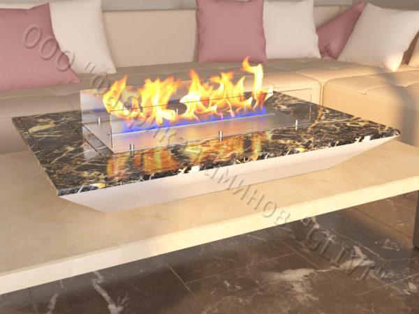 Мраморная облицовка (каминный портал) для камина на биотопливе Палис, каталог (интернет-магазин) каминов из мрамора, изображение, фото 5