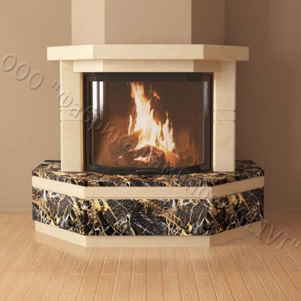Мраморный каминный портал (облицовка) Палм, каталог (интернет-магазин) каминов из мрамора, изображение, фото 2