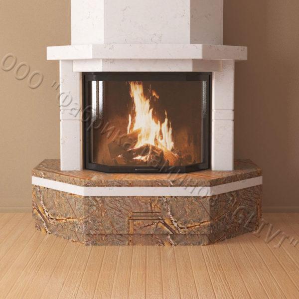 Мраморный каминный портал (облицовка) Палм, каталог (интернет-магазин) каминов из мрамора, изображение, фото 4