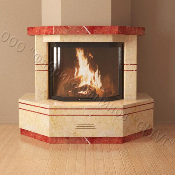 Мраморный каминный портал (облицовка) Палм, каталог (интернет-магазин) каминов из мрамора, изображение, фото 5