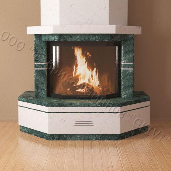 Мраморный каминный портал (облицовка) Палм, каталог (интернет-магазин) каминов из мрамора, изображение, фото 6