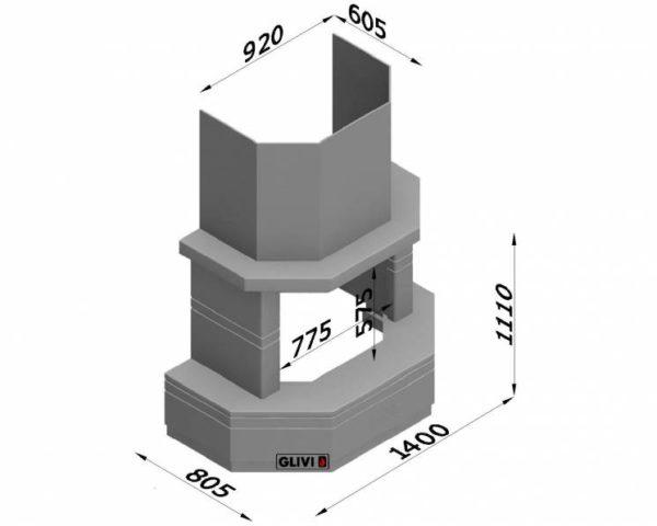 Мраморный каминный портал (облицовка) Палм, каталог (интернет-магазин) каминов из мрамора, изображение, фото 7