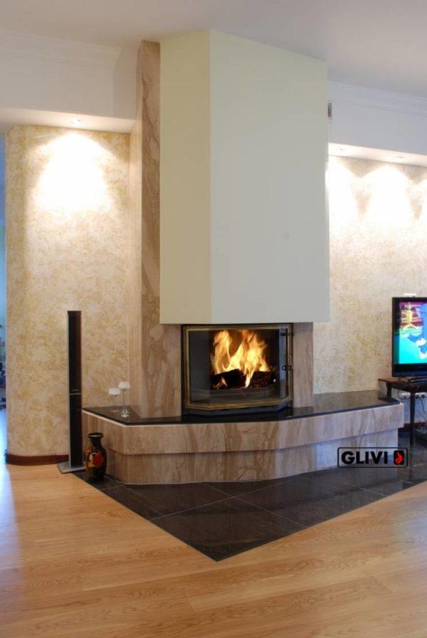 Мраморный каминный портал (облицовка) Парма, каталог (интернет-магазин) каминов из мрамора, изображение, фото 1