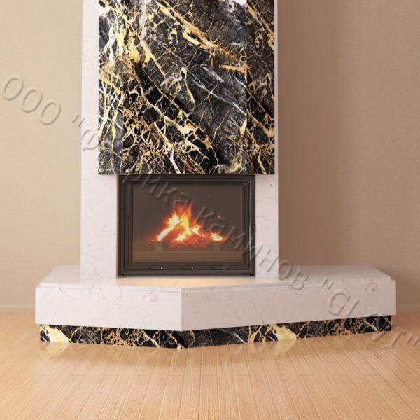 Мраморный каминный портал (облицовка) Парма, каталог (интернет-магазин) каминов из мрамора, изображение, фото 2