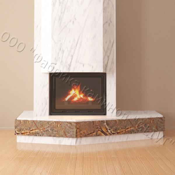 Мраморный каминный портал (облицовка) Парма, каталог (интернет-магазин) каминов из мрамора, изображение, фото 4