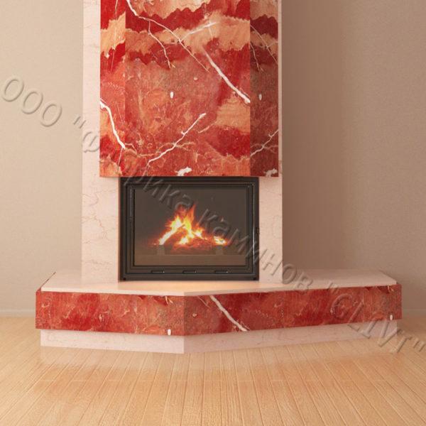 Мраморный каминный портал (облицовка) Парма, каталог (интернет-магазин) каминов из мрамора, изображение, фото 5