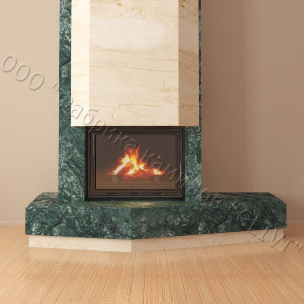 Мраморный каминный портал (облицовка) Парма, каталог (интернет-магазин) каминов из мрамора, изображение, фото 6