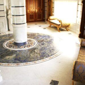 Мозаичный пол из натурального мрамора Персеида, интернет-магазин полов, изображение, фото 1