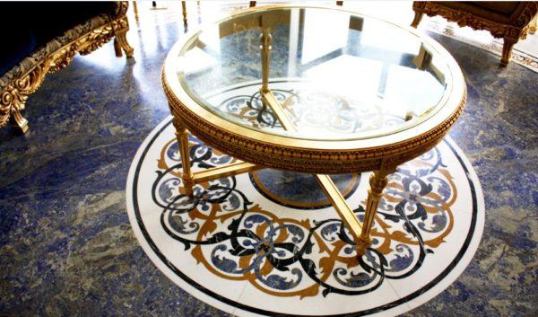 Мозаичный пол из натурального мрамора Персеида, интернет-магазин полов, изображение, фото 2