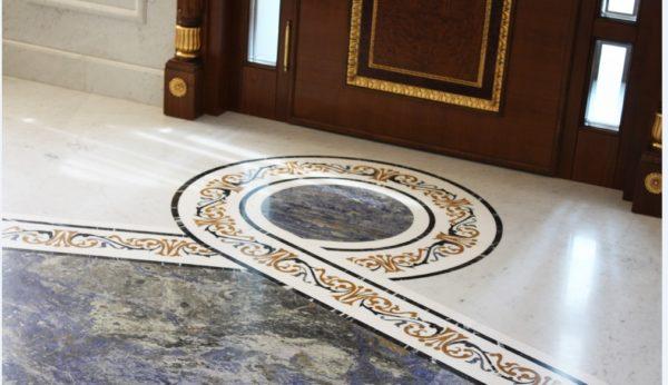 Мозаичный пол из натурального мрамора Персеида, интернет-магазин полов, изображение, фото 3