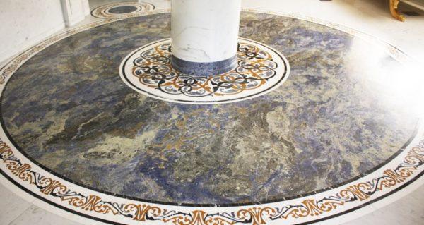 Мозаичный пол из натурального мрамора Персеида, интернет-магазин полов, изображение, фото 4