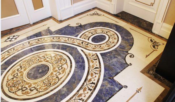 Мозаичный пол из натурального мрамора Персеида, интернет-магазин полов, изображение, фото 5