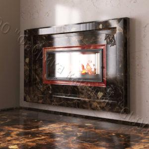 Двухсторонний (туннельный, стеклянный) камин Пиано, каталог каминов, изображение, фото 1