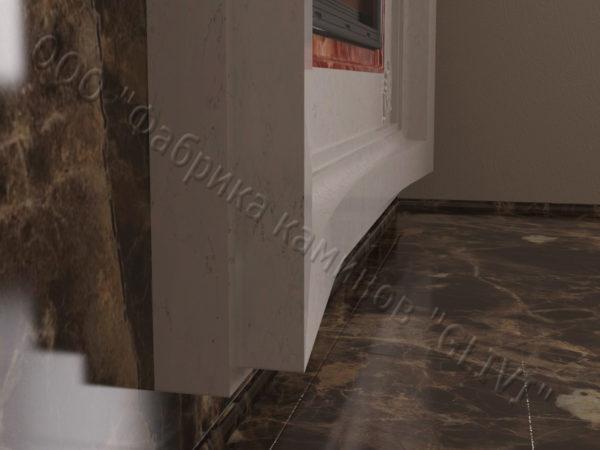 Двухсторонний (туннельный, стеклянный) камин Пиано, каталог каминов, изображение, фото 4