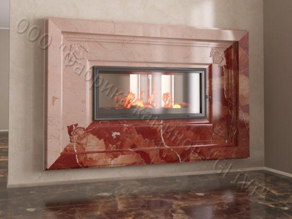 Двухсторонний (туннельный, стеклянный) камин Пиано, каталог каминов, изображение, фото 9
