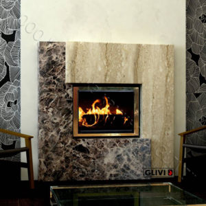 Мраморный каминный портал (облицовка) Порто, каталог (интернет-магазин) каминов из мрамора, изображение, фото 1